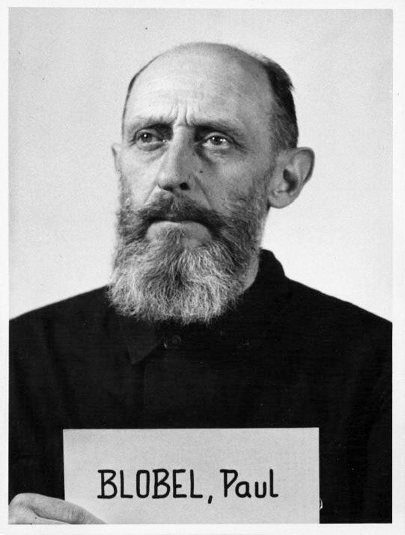 Paul Blobel Head of Sonderkommando 1005. (source: NARA)