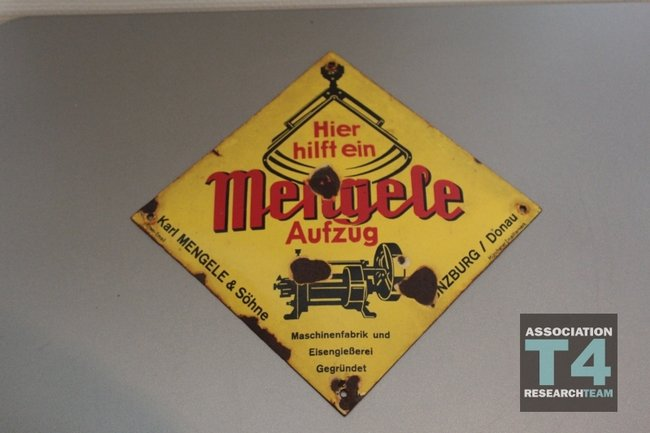 mengele amp sons company plaque